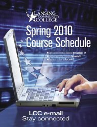 course schedule book - Lansing Community College