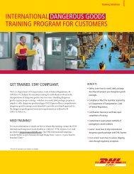 Dangerous Goods Training Brochure - DHL