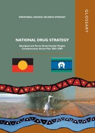 Glossary - National Drug Strategy Aboriginal and Torres Strait ...