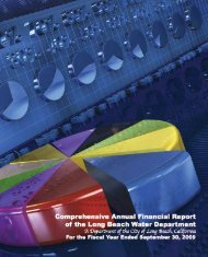 Comprehensive Annual Financial Report of the Long Beach Water ...
