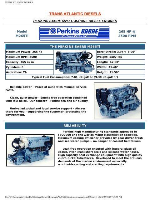 Marine Diesels