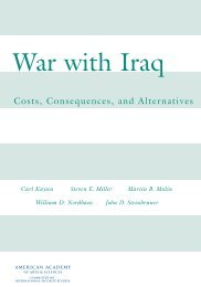 War with Iraq - American Academy of Arts and Sciences
