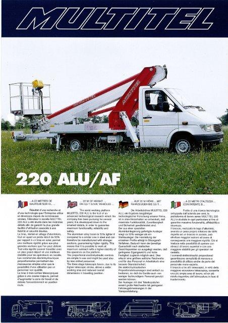 Multitel 220 ALU/AF Selbstfahrer-Arbeitsbühne - BauRent AG Ost
