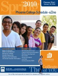 Find Out! Click Here - Maricopa Community Colleges