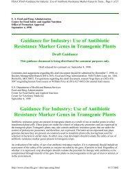 Use of Antibiotic Resistance Marker Genes in Transgenic ... - CERA