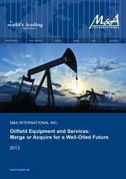 Oilfield Equipment and Services - M&A International Inc.