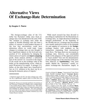 Alternative Views Of Exchange-Rate Determination - Federal ...
