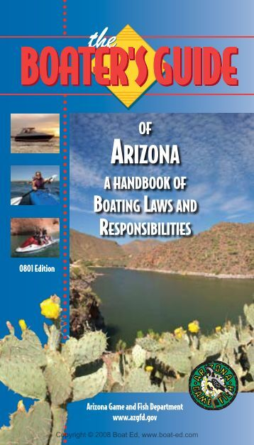 The Boater's Guide of Arizona - Arizona Game and Fish Department