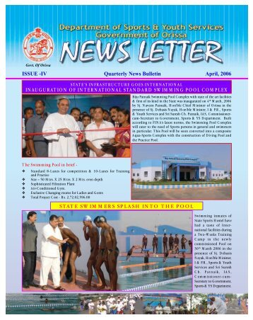 ISSUE -IV April, 2006 Quarterly News Bulletin INAUGURATION OF ...