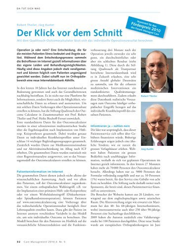 Der Klick vor dem Schnitt - Forum Managed Care