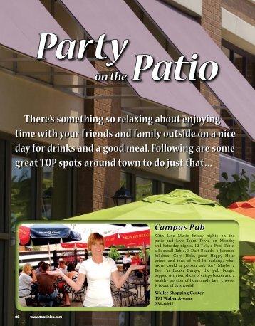 on the Patio - TopsinLex.com