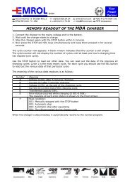 Report of the MDA memory (English) - Emrol