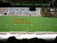 FIMS Advisory Committee - Facilities Information Management System