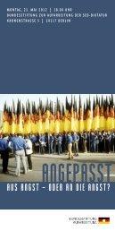 Veranstaltungsflyer [160 KB] - Bundesstiftung zur Aufarbeitung der ...