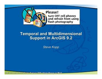 Temporal and Multidimensional Support in ArcGIS 9.2