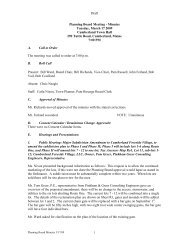 Planning Board Meeting - Minutes - Town of Cumberland