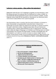 Kompakte Informationen zum Lehramtsstudium in ... - ZLH-Hamburg