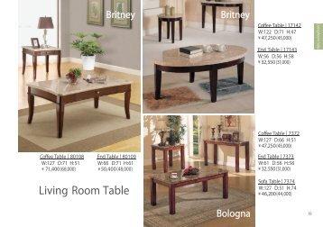 p19-27 Living Room -Table, TV Board - Furniture Rental Tokyo