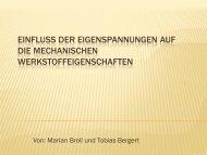 EINFLUSS DER EIGENSPANNUNGEN AUF DIE MECHANISCHEN ...