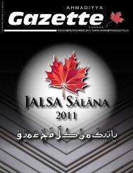 Closing Address: Jalsa Sālāna Canada 2011 - Ahmadiyya Gazette ...