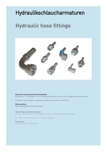 Hydraulic hose fittings - Schmitter Hydraulik GmbH
