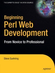 Beginning Web Development With Perl : From Novice to ... - Nabo