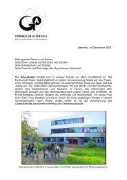 Rundbrief Dezember 2006 - Gymnasium Altenholz