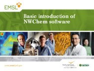 Basic introduction of NWChem software - The LONI Institute