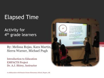 Elapsed Time - Faculty Web Pages