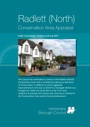 Radlett North Conservation Area Leaflet - Hertsmere Borough Council
