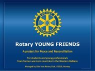 Rotary YOUNG FRIENDS - Oslo Vest Rotary Klubb