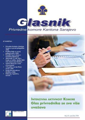 Glasnik 69.indd - Privredna komora Kantona Sarajevo