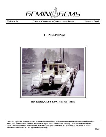 January 2002 - Gemini Gems