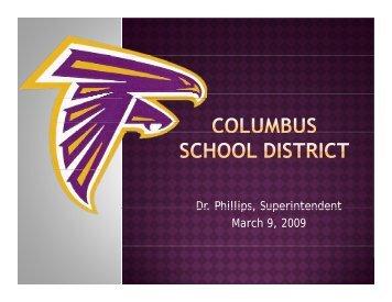 Presentation - Columbus Municipal School District