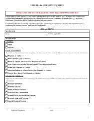 VOLUNTARY SELF-IDENTIFICATION SECTION I ... - Allen & Overy