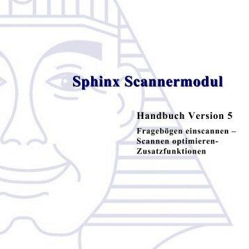 Handbuch Scannerhandbuch V5 - Sphinx Survey