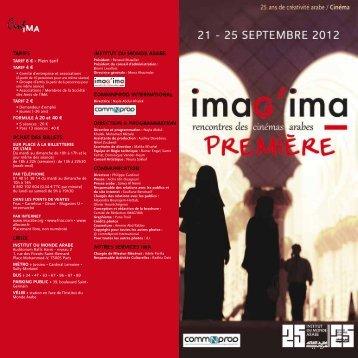 1erfestival imagima.pdf - Institut du Monde Arabe
