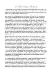 Il messaggio del papa (PDF) - ATS pro Terra Sancta