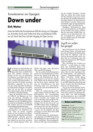 Down under Dirk Wetter - Sphinx Computer