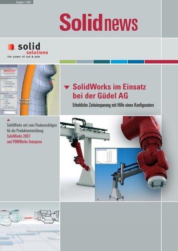 SolidWorks im Einsatz bei der Güdel AG - Solid Solutions AG