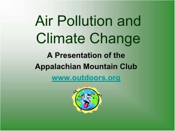 Energy & Climate Change Training for Grade 3 - Appalachian ...