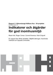 Indikatorer och åtgärder för god inomhusmiljö - Stockholms ...
