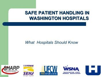 Washington State Steering Committee Safe Patient Handling ...