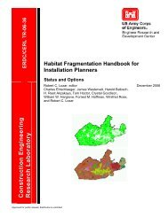 Habitat Fragmentation Handbook for Installation Planners