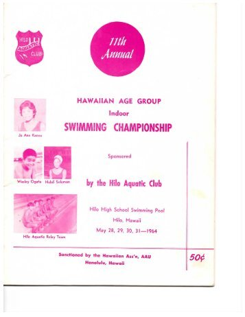 1960 Age Group Short Course Champs - Hawaii Swimming