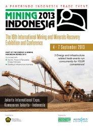 Mining Indonesia 2013 Brochure - Allworld Exhibitions