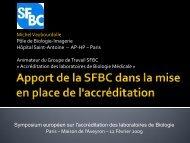 Présentation du groupe Symposium Accréditation FHF