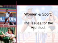 Women & Sport: The Issues for the Architect - EWS European ...