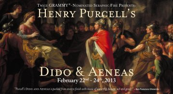 Dido and Aeneas - Seraphic Fire