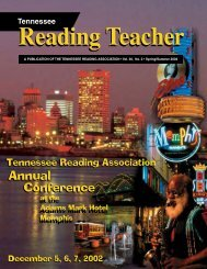 NEW S.2.2002.pmd - Tennessee Reading Association